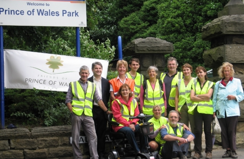 Philip's visit to Friends of Prince Wales Park