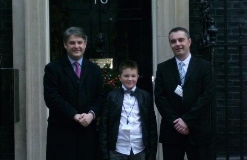 Philip and Jason and Lee D'Arcy at No 10 Downing Street (December 2013)