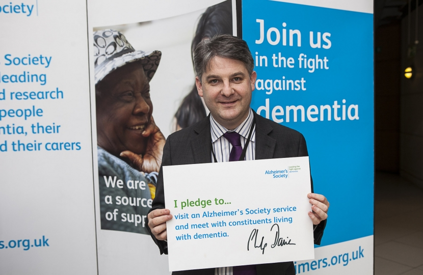 Philip Davies MP supporting Alzheimer's Society