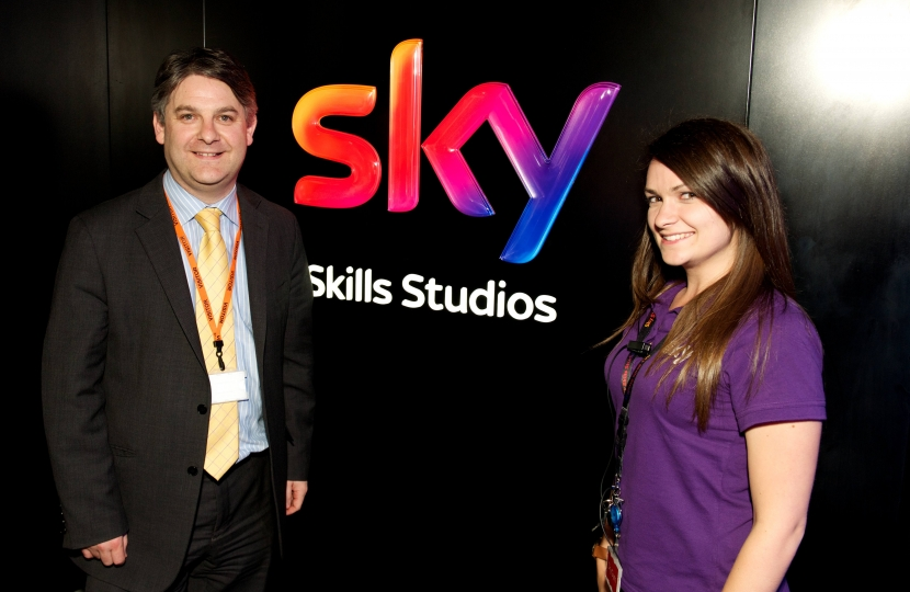 At Sky Skills studios where children can learn about television production