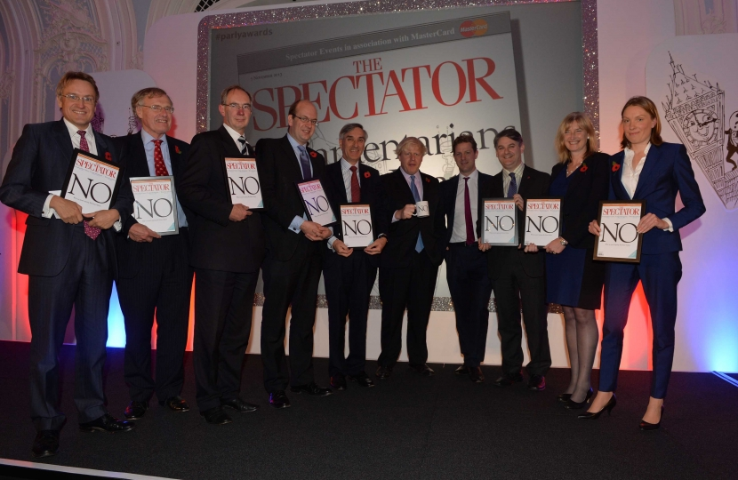 Spectator Joint Award - Parliamentarian of the Year 2013