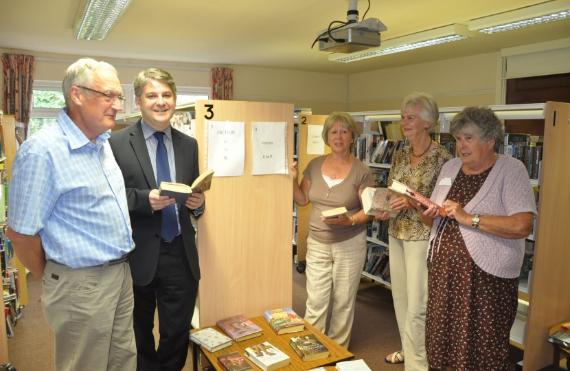 Philip's visit to Wilsden Library